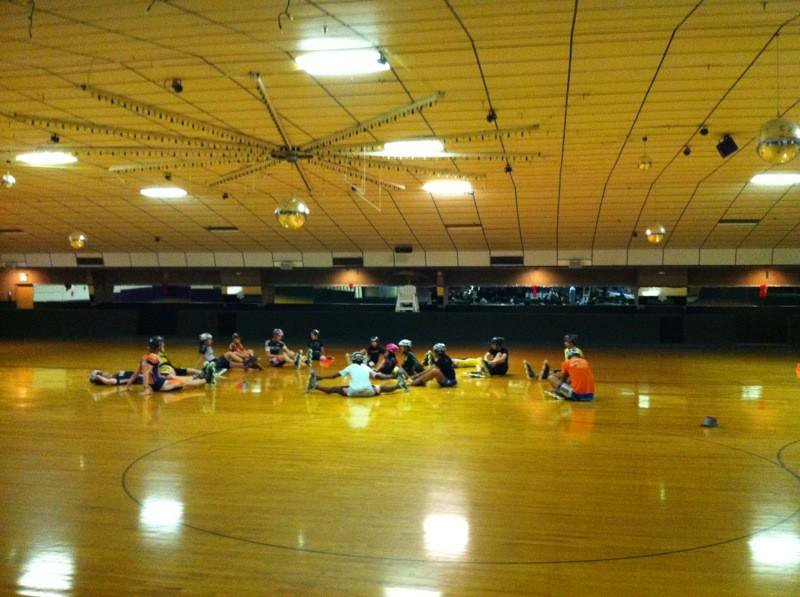 This morning we had to wake up real early to practice real hard with coach Gregg #Kissimmee #3hrsskating #notforpussys
