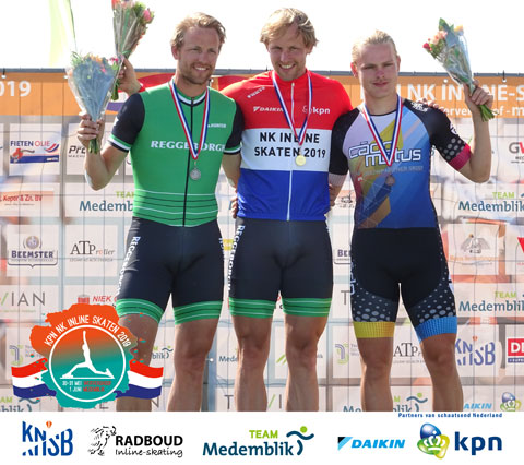 Janno Botman (3e) op het podium