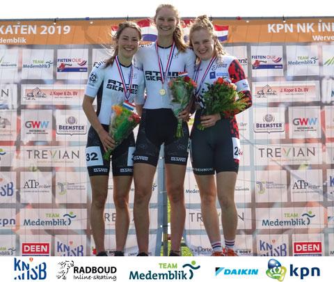 Bente Kerkhoff Nederlands Kampioen, Ramona Westerhuis 2e op de 1000m