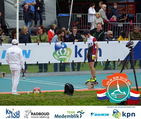 Twan Berlijn aan de start van de 200m