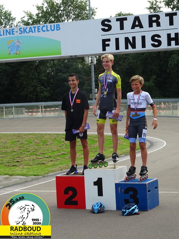 Chris Berkhout wint het dagklassement bij de heren kadetten